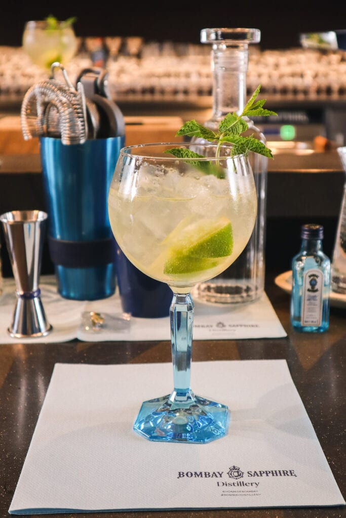 A cocktail making masterclass at the Bombay Sapphire Distillery, Hampshire