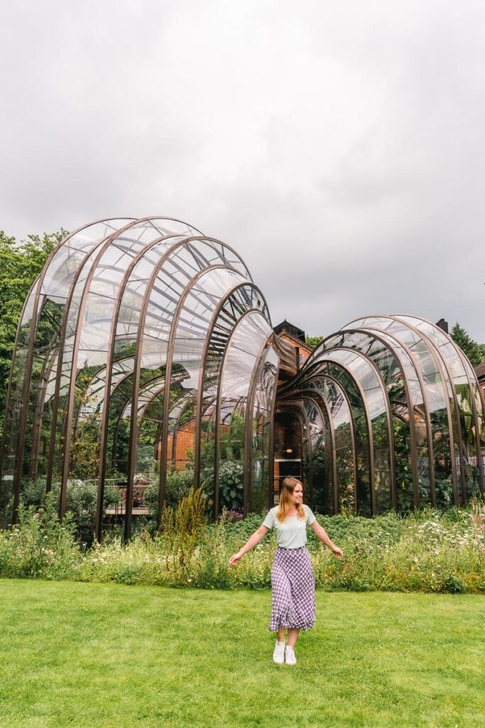 The glass houses at the Bombay Sapphire Distillery, Hampshire