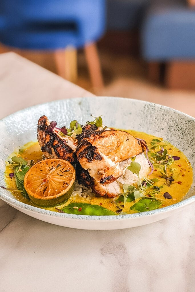 Delicious Thai chicken at The Palm Brasserie, Hampshire