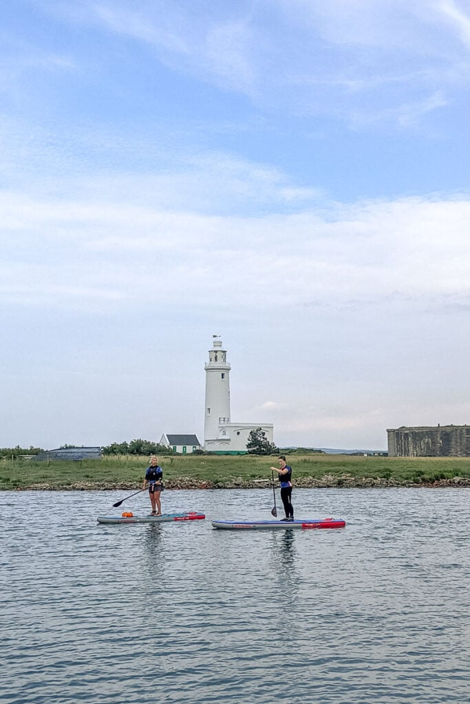 Paddle boarding to Hurst Castle