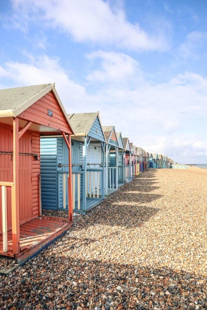 Pretty beach huts in Herne Bay