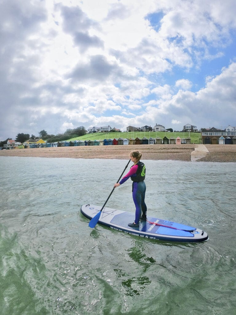 Stand up paddle boarding is one of my top things to do in Herne Bay