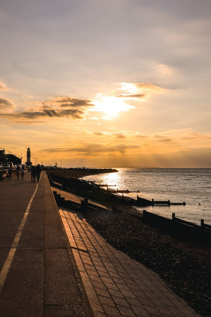 Herne Bay is known for its lovely sunsets
