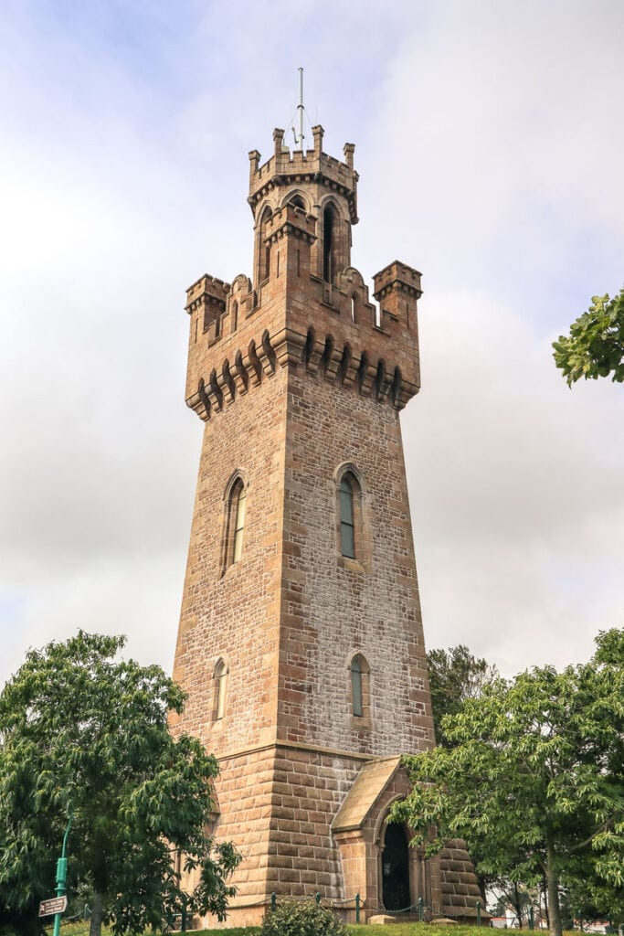 Victoria Tower in St Peter Port