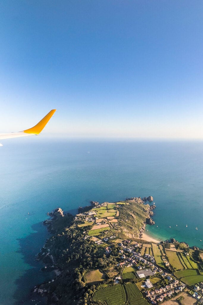 Views from our flight over Guernsey