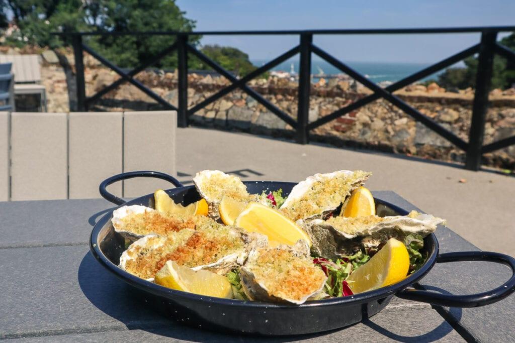 Herm oysters at Copenhagen Restaurant