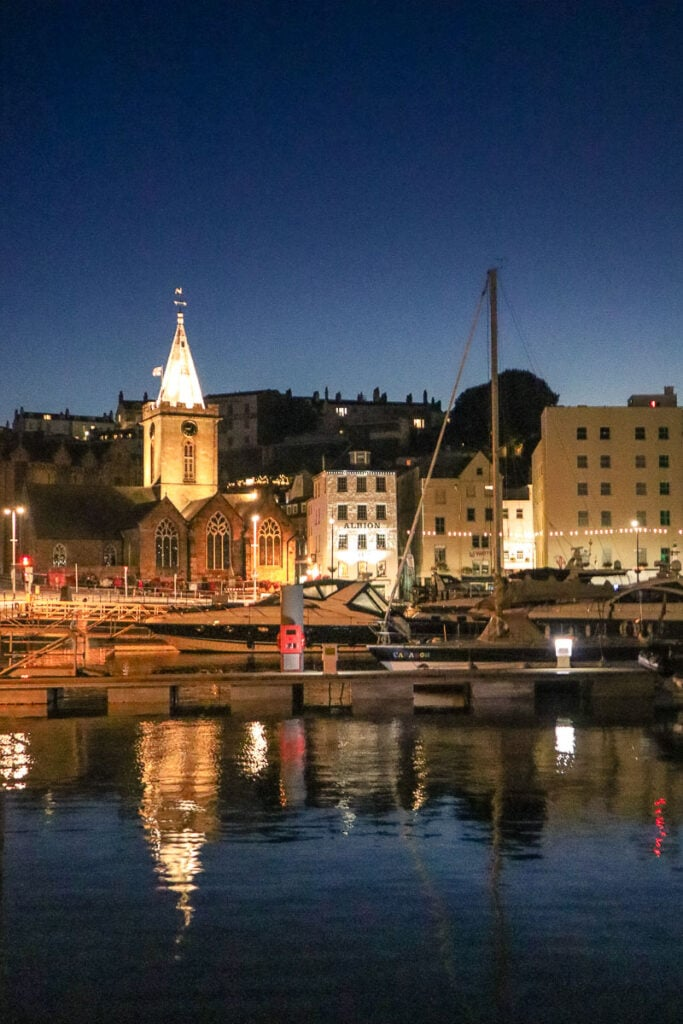 Night time in St Peter Port