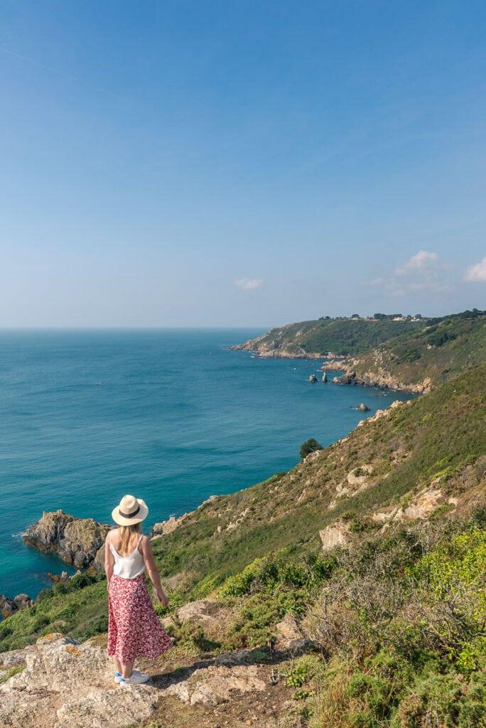 Cliff walk from Petit Port to Moulin Huet