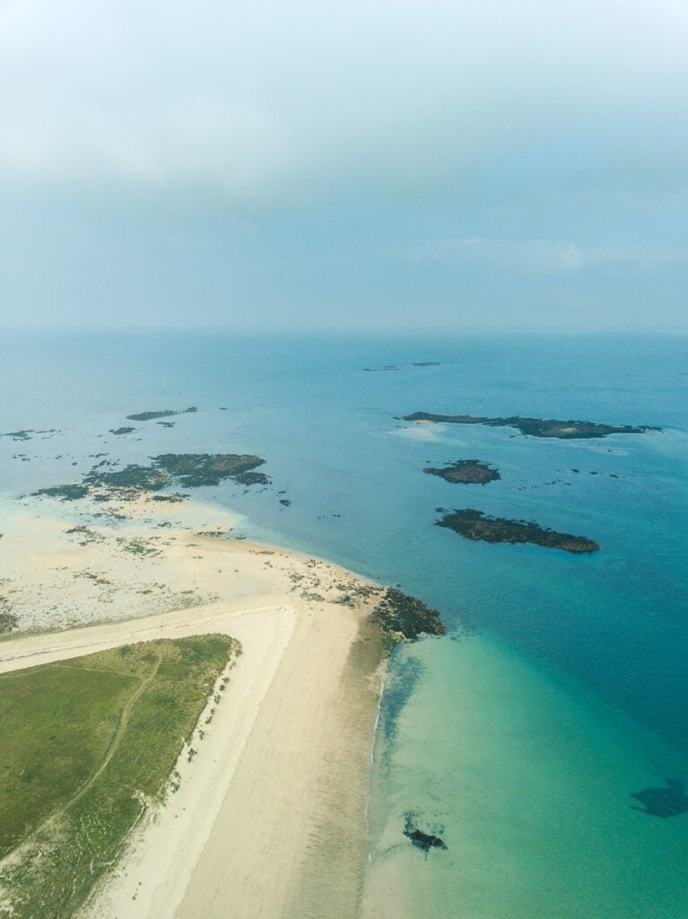 Shell Beach in Herm is famous for its white sand