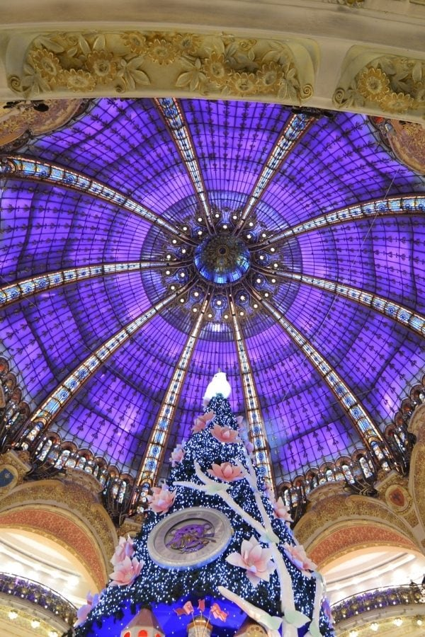 Galleries Lafayette in Paris at Christmas