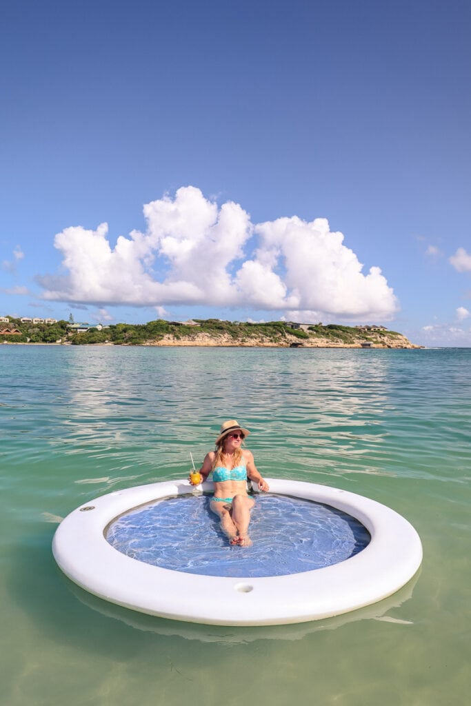 What a relaxing experience in a floating ring at Hammock Cove