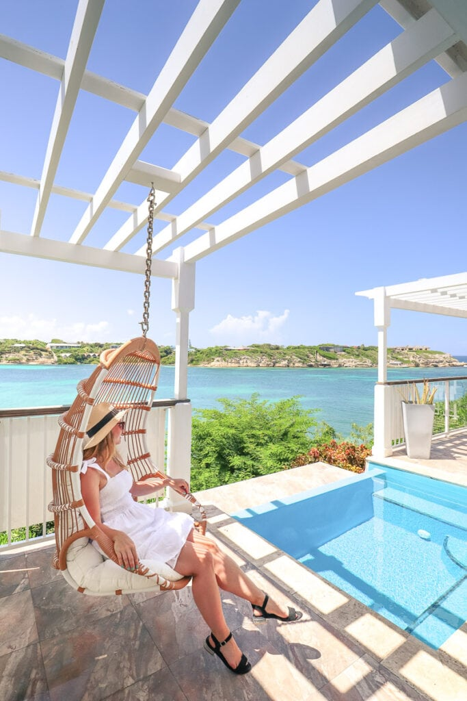 Every villa has a swing chair